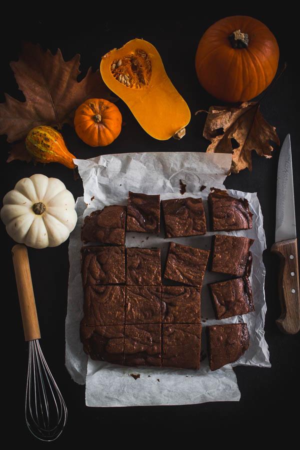 pumpkin brownies 1