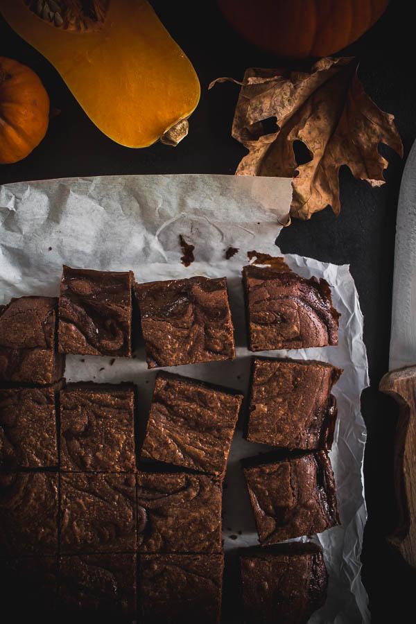 pumpkin brownies 2