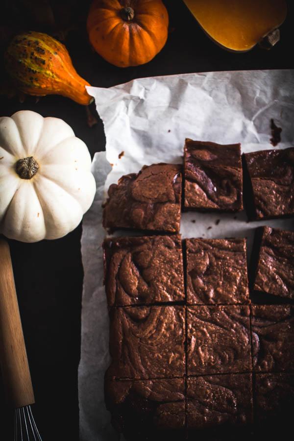 pumpkin brownies 3