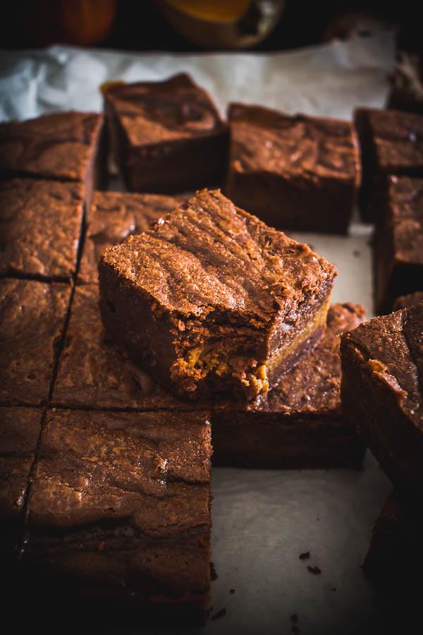 pumpkin brownies 6