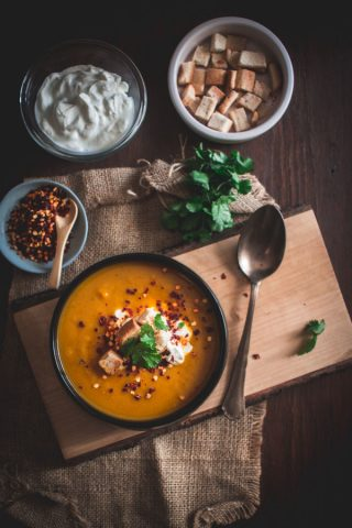 pumpkin sweet potato soup 1