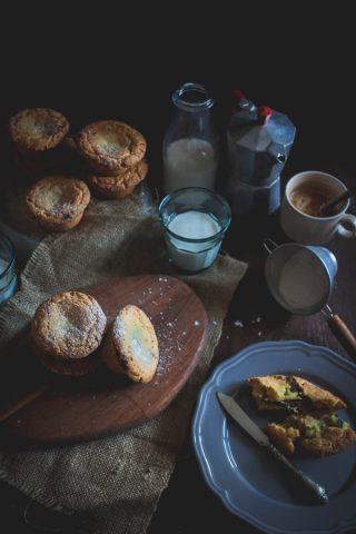nutella stuffed muffins_