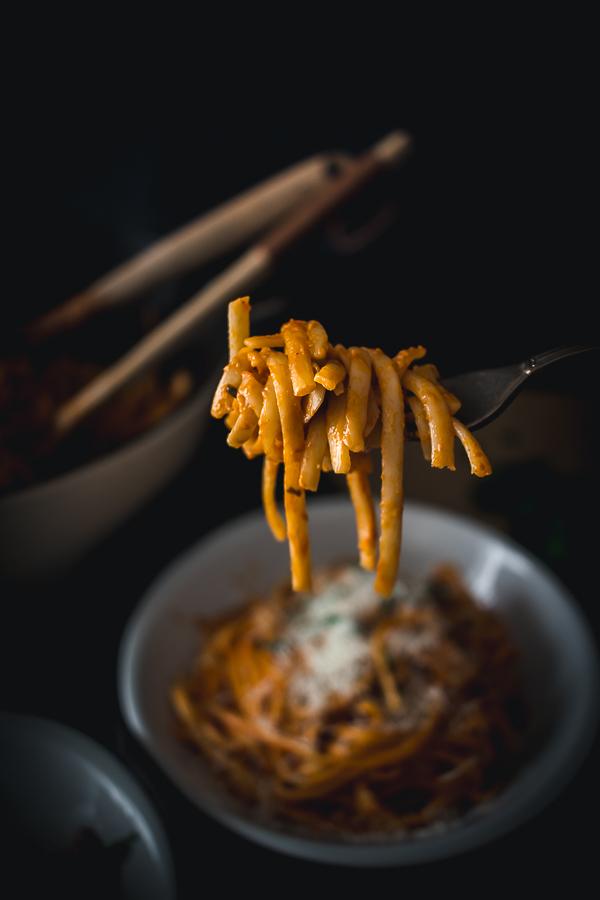 bacon mushroom alla vodka pasta-8