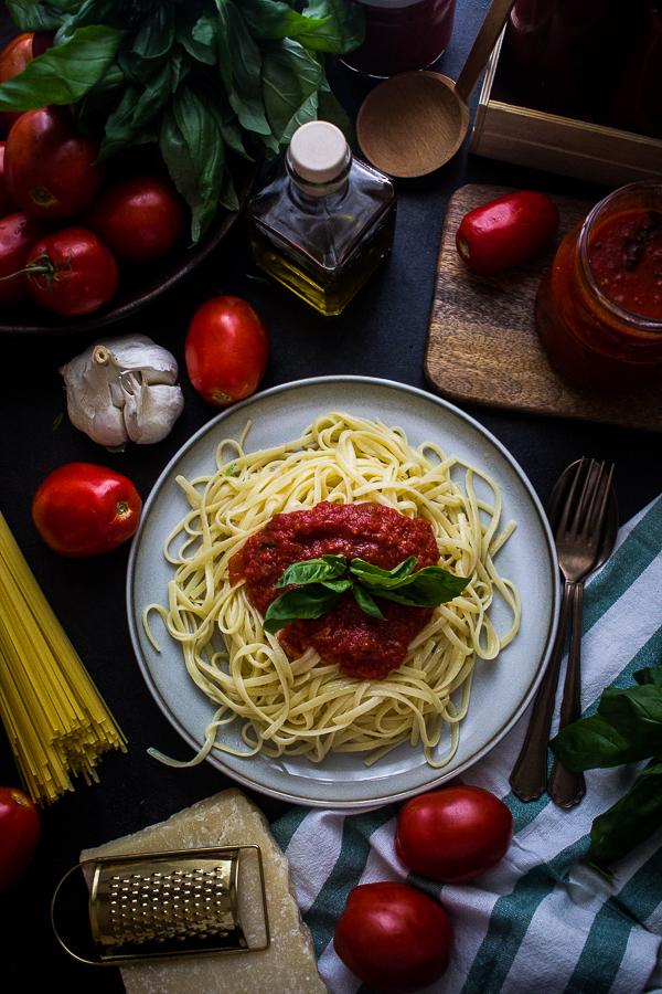 tomato basil pasta sauce-6