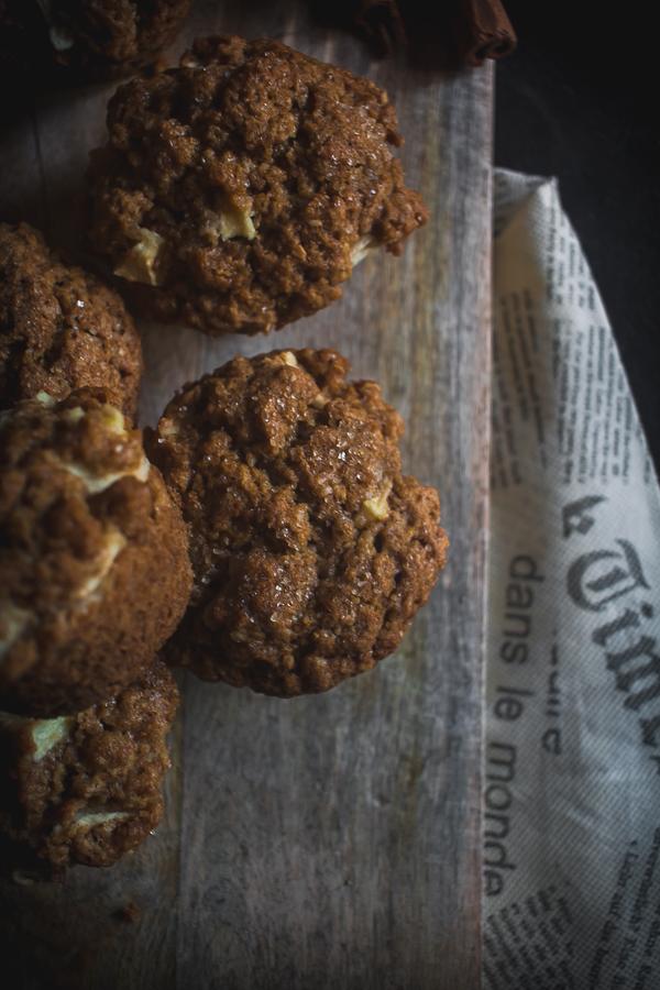 apple cinnamon oat muffins-7