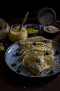 lemon curd blueberries crepes-6