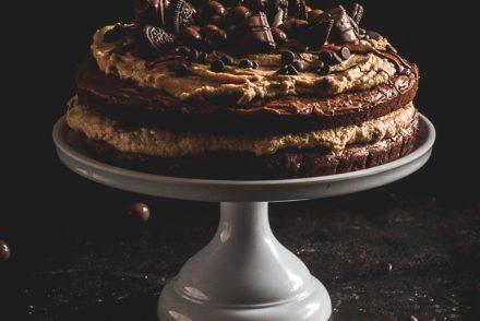 brownie cookie dough cake-8