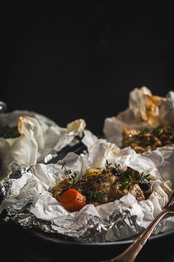 chicken vegetable foil packs-5