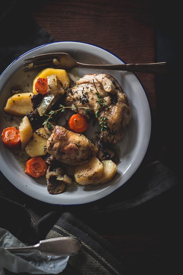 chicken vegetable foil packs-7
